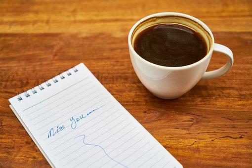 Coffee, Notebook, Wood-fibre Boards, Espresso, Paper