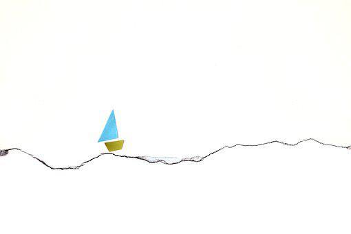 Yacht, Ship, Boat, Sea, Sail, Sailboat, Minimalism