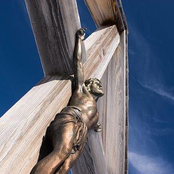 Religion, Sculpture, Cross, Statue, God, Sky