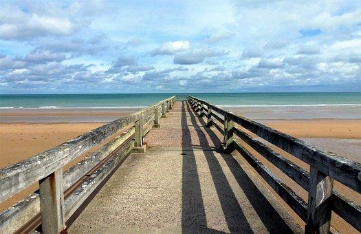 Nature, France, Normandy, Sea, Beach, Atlantic Ocean
