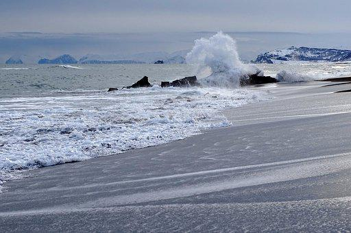 The Pacific Ocean, Sea, Wave, Spray, Seascape, Coast