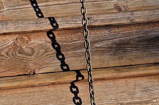 Wood, Wooden, Old, Log, Shedow, Ancient, Chain