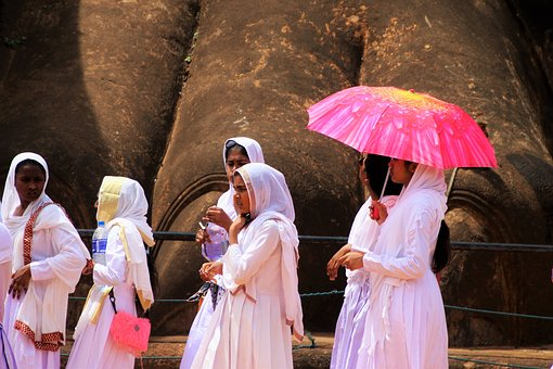 Costume, Sri Lanka, Girls, Traditional, Dress, Sigiriya