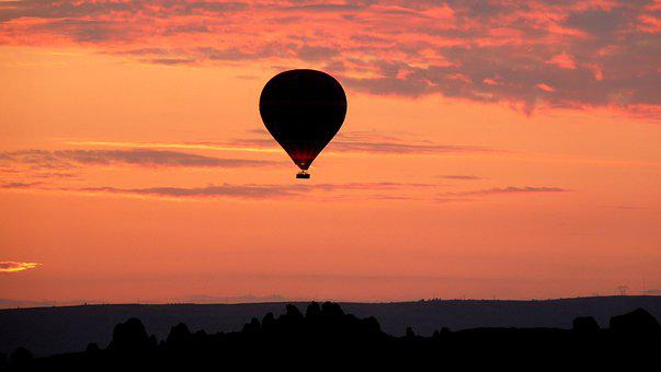 Sunset, Dusk, Evening, Sky, Dawn, Balloon