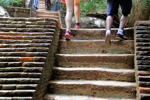 Para, Legs, Climbing, Stairs, At The Court Of