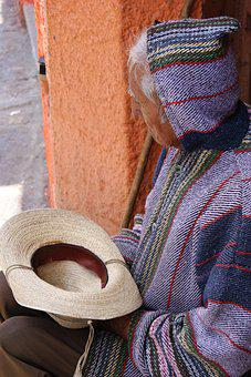 Wool, Scarf, Clothing, Weaving, Textile, People, Old