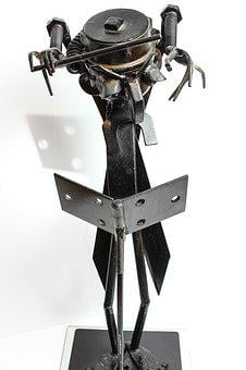 Steel, Isolated, Tool, Wrench, Sculpture