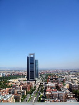 Madrid, Bussines, Avenue, Architecture, City