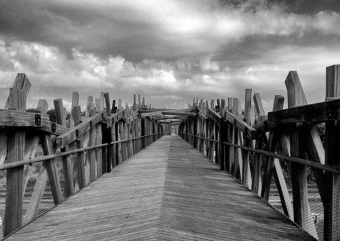 Bridge, Black And White Photography, Architecture