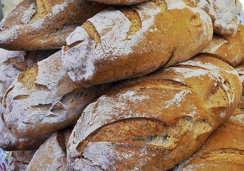 Bakery, Loaf, Eating, Bread