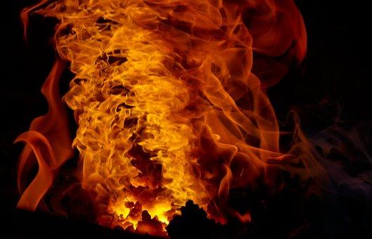 Fire, Flame, Flare-up, Burn, Smoke, Hot, Heat, Forge