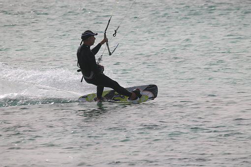 Water, Action, Competition, Recreation, Kite Surfer