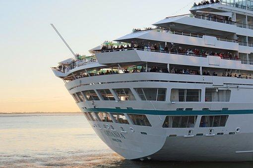 Sea, Cruise, Waters, Ship, Boot, Cruise Ship