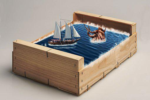 Box, Adventure, Basket, Wood, Fantasy, Maritime