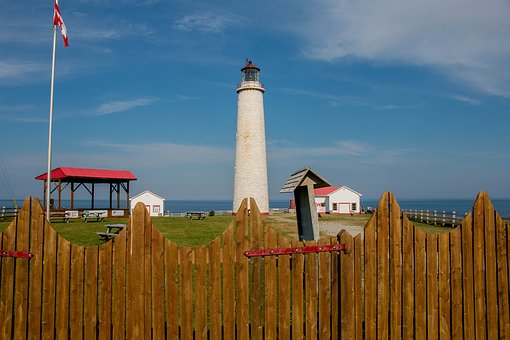 Lighthouse, Nautical, Seafaring, Fence, Sky, Landscape