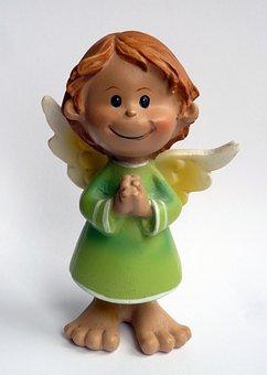 Guardian Angel, Angel, Figurine, Prayer, Good Luck