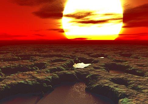 Sunset, Water, Seashore, Dusk, Dawn, Landscape, Hot