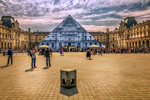 Paris, Louvre, Pyramid, Museum, Traveling