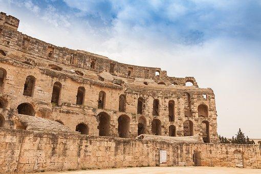 El Jem, El Djem, Tunisia, Architecture, Antiquity, Old