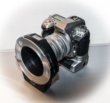 Pentax, Digital Camera, Camera, Ring Flash, Lens