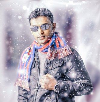 Portrait, Winter, People, Snow, Adult, Cold, Wear