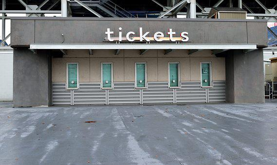 Ticket Booth, Sign, Tickets, Sell, Sporting Event