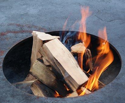 Flare-up, Heat, Smoke, Fire, Burn, Firewood, Brand