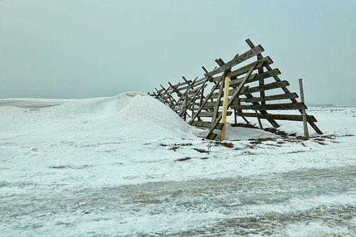 Winter, Landscape, Snow, Snowdrift