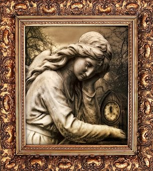 Statue, Marble, Cemetery, Picture, Frame, Art, Museum