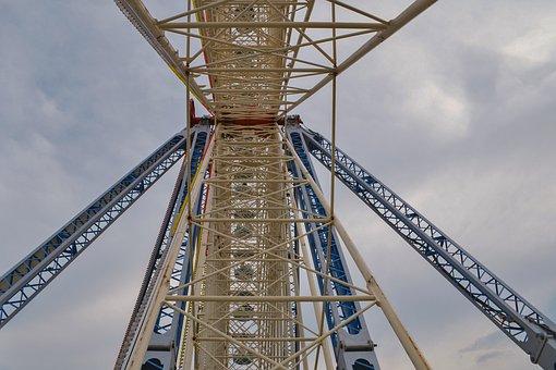 Sky, Steel, Structure, Ferris Wheel, Metal Tubes