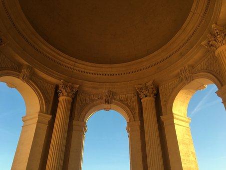 Building, Tourism, Column, Sun, Sky, Arch