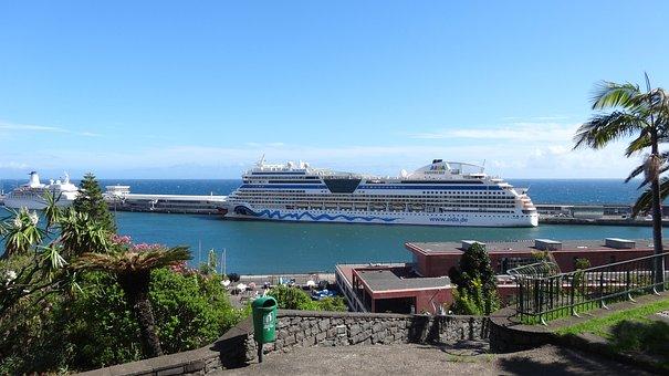 Waters, Travel, Sea, Coast, Aida, Cruise Ship, Holiday