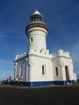 Cape Byron Lighthouse, Ocean, Light, Coast, Warning