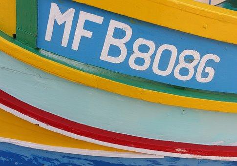 Malta, Marsaxlokk, Water, Fishing, Boat, Watercraft