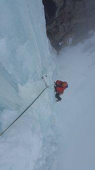 Ice Climbing, Ice, Waterfall, Adventure, Risk