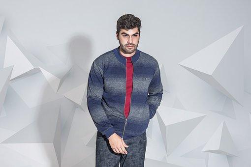 Male, Winter, Fashion, Blue, Man, Men's Shirts