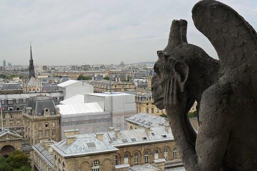 City, Panorama, Paris, France, Buildings, View