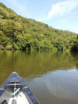Canoeing, Canoe Tour, Lahn, Canoe Trip