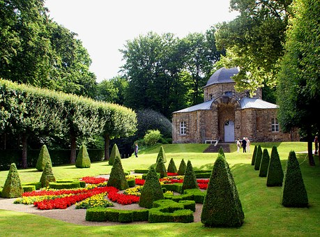 Park, Pavilion, Garden, Castle, Fountain, Würzburg