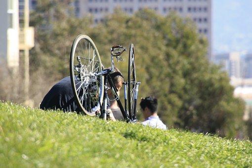 Bike, Bicycle, Broken, Spoke, Pedal, Chain, Repair