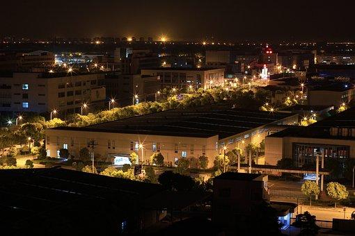 Pudong, Night, Light, City Location
