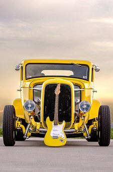 Classic Car, Electric Guitar, Muscle Car, Old Car