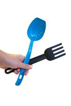Hand, Kitchen Equipment, Scoop, Fork, Cooking, Cook