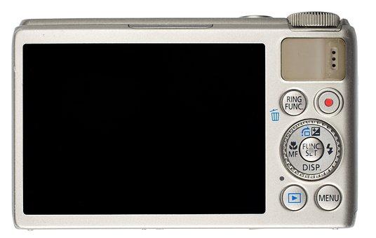 Digital Camera, Camera, Compact, Back, Display, Rear