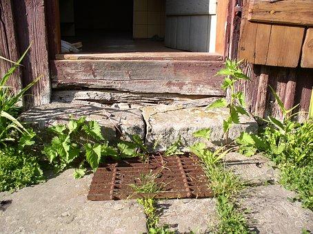 Old, Home, Door Mat, Farm, Hut