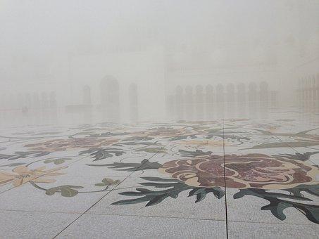 Fog, Flowers, Moshe, Abu Dhabi, Mosaic, Ground, Pattern