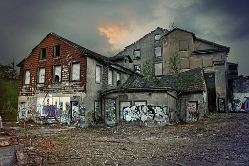 Ruins, Break Up, Old Houses, Former Spinning Mill