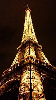 Eiffel, Tower, Paris, France, Travel, Landmark, Europe
