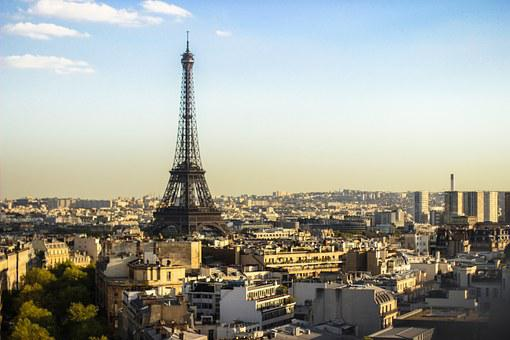 Eiffel Tower, Paris, France, City, View, Abendstimmung