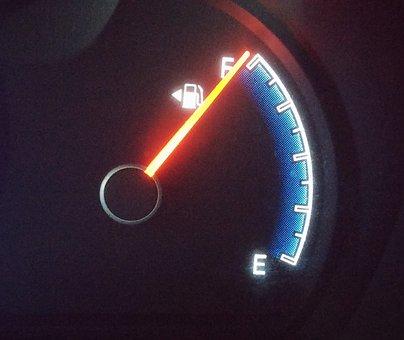 Fuel Gauge, Fuel Light, Fuel Tank, Full Tank, Needle
